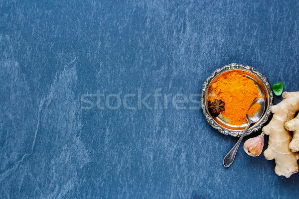 Poudre ingrédients fraîches délicieux saine cuisson Photo stock © YuliyaGontar
