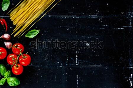 Food background on wood Stock photo © YuliyaGontar