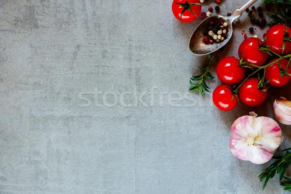 органический овощей приготовления старые металл пространстве Сток-фото © YuliyaGontar