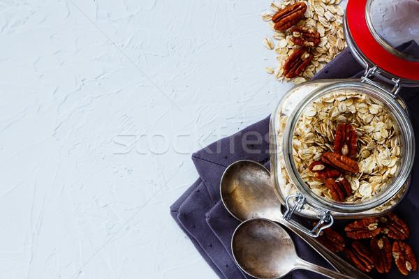 Healthy breakfast background Stock photo © YuliyaGontar