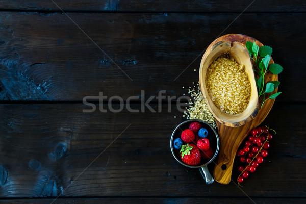Ingredientes baga congestionamento topo ver Foto stock © YuliyaGontar