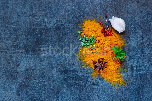 Colorful spices selection Stock photo © YuliyaGontar