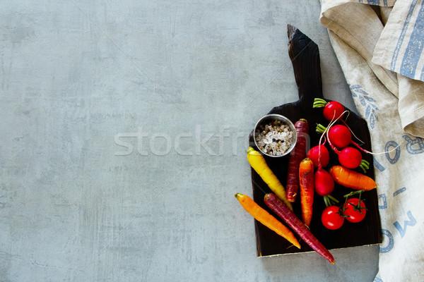 Raw organic vegetables Stock photo © YuliyaGontar