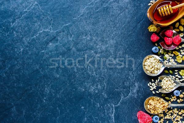 Breakfast concept on table Stock photo © YuliyaGontar