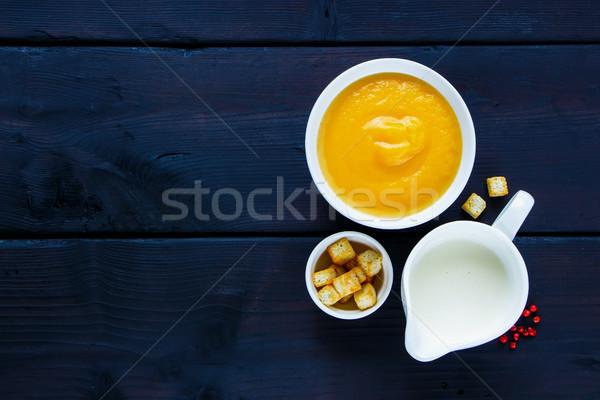 Vegetable cream soup Stock photo © YuliyaGontar
