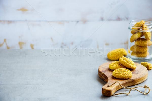 домашний кокосового Cookies место текста Сток-фото © YuliyaGontar