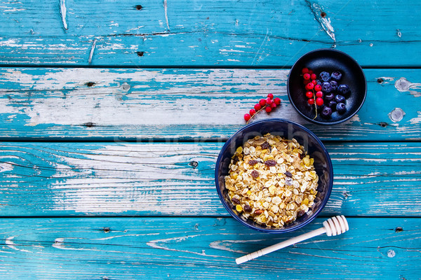 Healthy muesli in bowl Stock photo © YuliyaGontar