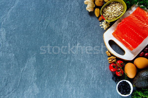 Selection of organic food Stock photo © YuliyaGontar