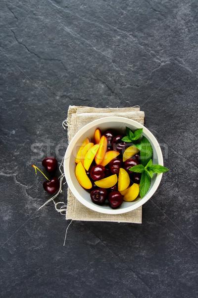 Completo verão comida vida saudável vegetariano Foto stock © YuliyaGontar