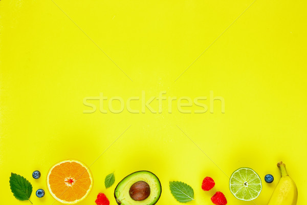 Tropicali frutti creativo layout Foto d'archivio © YuliyaGontar