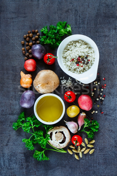 Colorful spices and vegetables Stock photo © YuliyaGontar