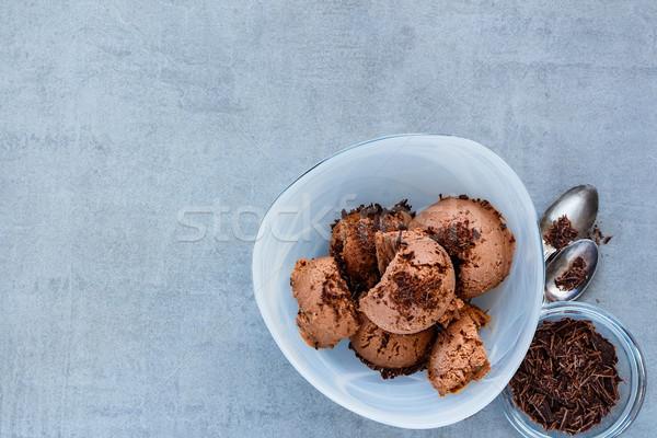 ストックフォト: チョコレート · アイスクリーム · ボウル