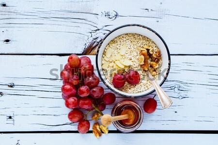 Quinoa flakes for breakfast Stock photo © YuliyaGontar