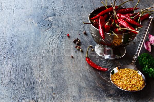 горячей травы специи текстуры Сток-фото © YuliyaGontar