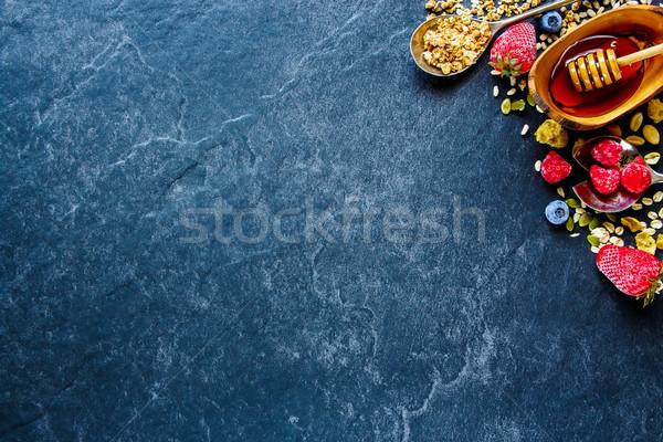 Сток-фото: завтрак · таблице · Top · мнение · заморожены · Ягоды