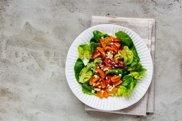 Fresh salad plate Stock photo © YuliyaGontar