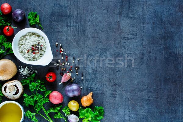 スパイス 野菜 カラフル 生 暗い ストックフォト © YuliyaGontar