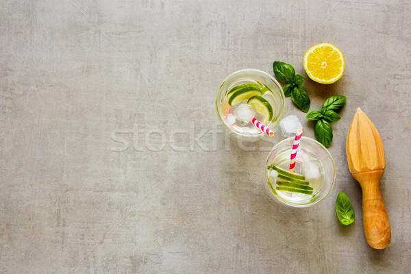 Saine maison limonade été cocktail Photo stock © YuliyaGontar