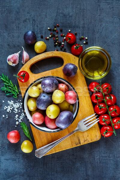 新鮮な オーガニック 野菜 先頭 表示 ヴィンテージ ストックフォト © YuliyaGontar