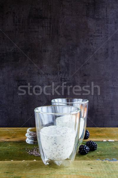 Chia yogurt pudding Stock photo © YuliyaGontar