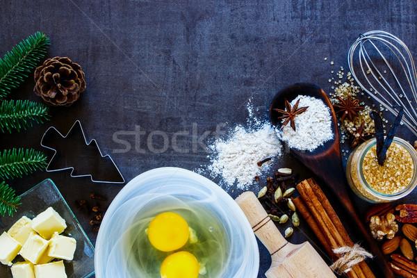 休日 ベーカリー クリスマス レシピ ヴィンテージ ストックフォト © YuliyaGontar