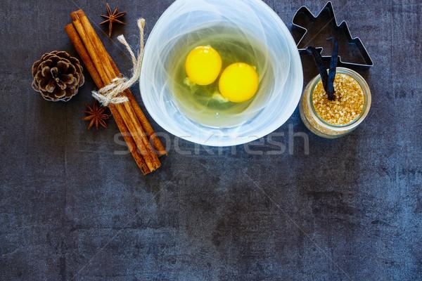 Holiday bakery background Stock photo © YuliyaGontar