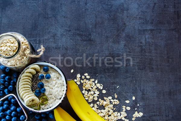 Home made oatmeal porridge Stock photo © YuliyaGontar