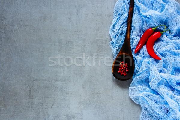 Sıcak iki taze kırmızı eski Stok fotoğraf © YuliyaGontar