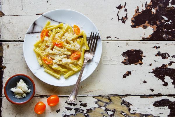 Vegeterian italian pasta Stock photo © YuliyaGontar