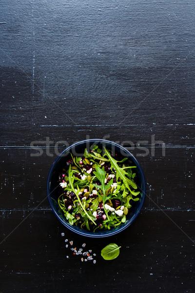 Beetroot salad bowl Stock photo © YuliyaGontar