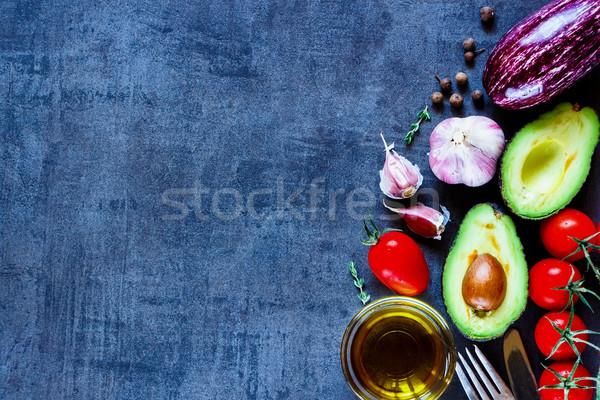 Fresche verdura pomodori avocado melanzane Foto d'archivio © YuliyaGontar