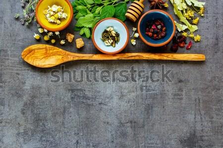 Zöldségek felső kilátás különböző taco készít Stock fotó © YuliyaGontar