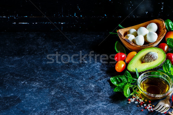 Fresh salad ingredients Stock photo © YuliyaGontar
