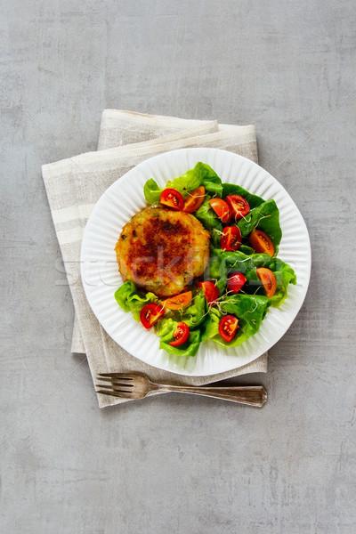 Homemade vegan cutlet Stock photo © YuliyaGontar