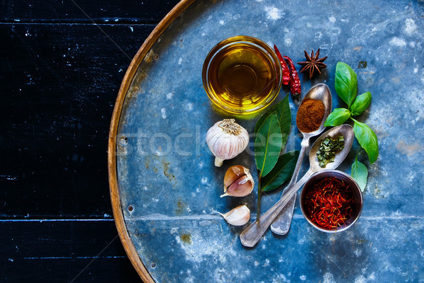 Brignt spices and herbs Stock photo © YuliyaGontar