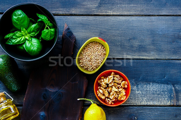 Stock photo: Clean eating cooking ingredients