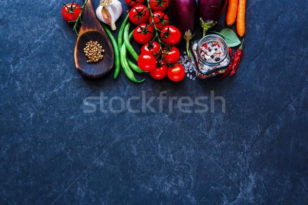 Fresh unprocessed vegetables Stock photo © YuliyaGontar