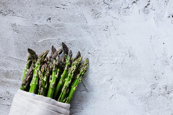 Zdjęcia stock: Zielone · świeże · szparagów · organiczny · konkretnych