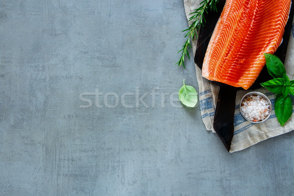 Fresh salmon fillet Stock photo © YuliyaGontar