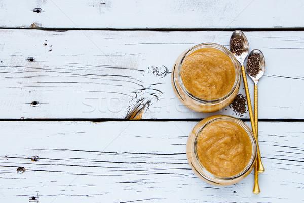 Pumpkin banana smoothie Stock photo © YuliyaGontar