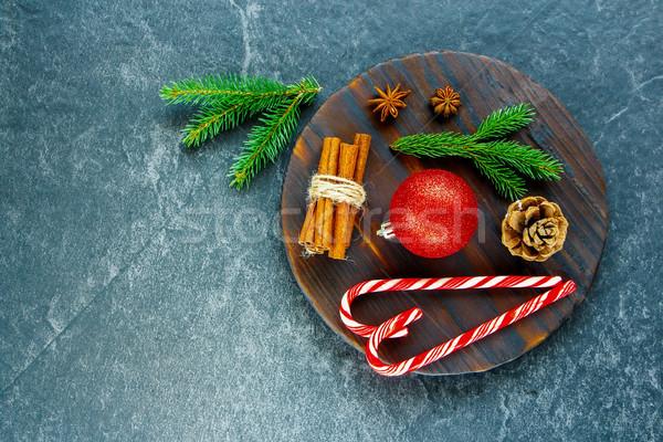 Fűszer ünnepi dekoráció karácsony új év cukorka Stock fotó © YuliyaGontar