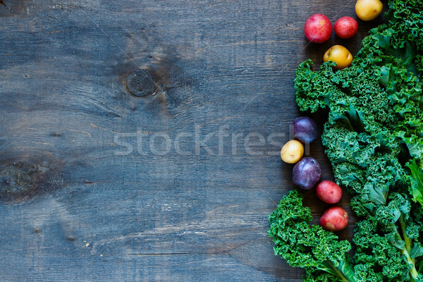 Renkli organik sebze taze sağlıklı beslenme rustik Stok fotoğraf © YuliyaGontar