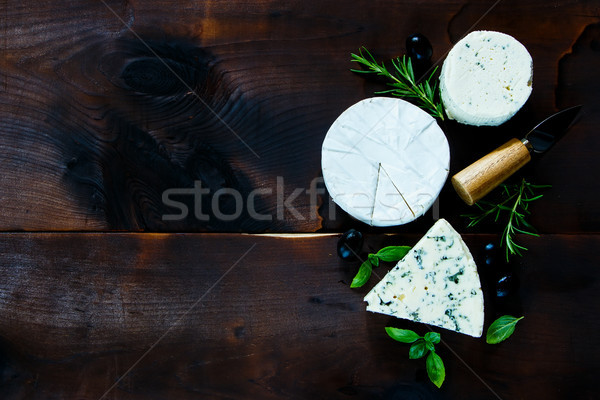 Different kinds of cheese Stock photo © YuliyaGontar
