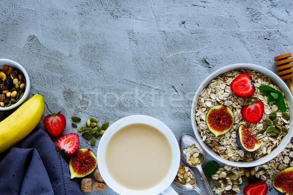 健康 朝食 コーヒー おいしい 燕麦 ストックフォト © YuliyaGontar