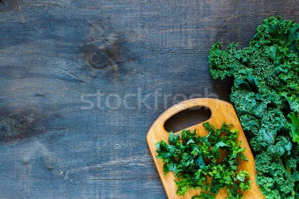 Green curly kale Stock photo © YuliyaGontar