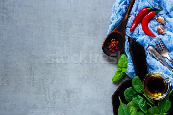 生 野菜 材料 石 食品 健康 ストックフォト © YuliyaGontar