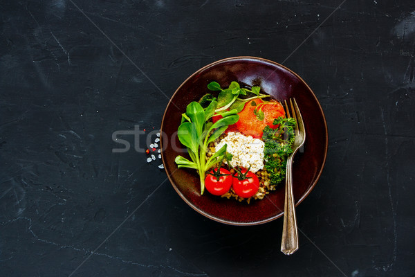Rainbow power buddha bowl Stock photo © YuliyaGontar