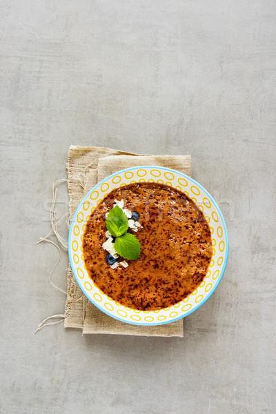 Blueberry smoothie bowl Stock photo © YuliyaGontar