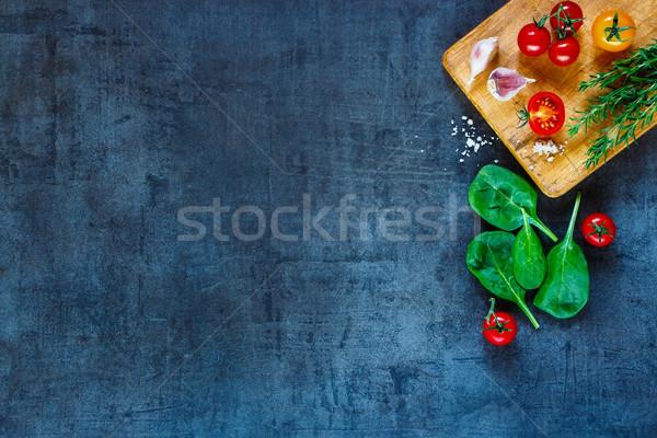 新鮮な野菜 材料 暗い ヴィンテージ ストックフォト © YuliyaGontar