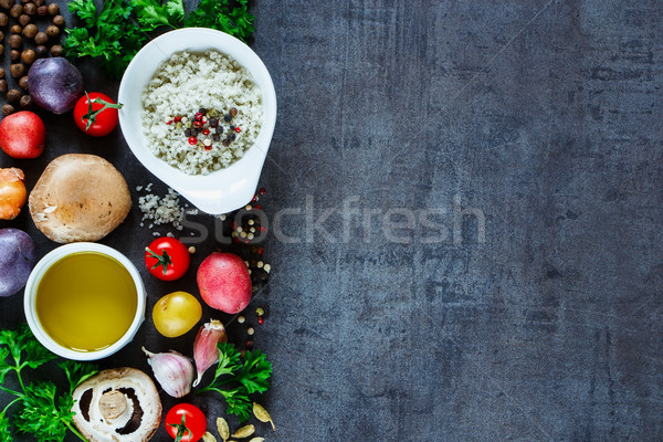 Various spices and vegetables Stock photo © YuliyaGontar